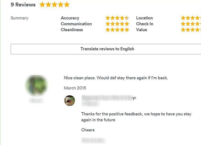 As a host you have insight into potential tenants through reviews