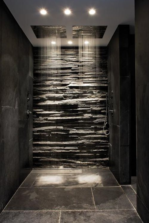 Contemporary home design shower