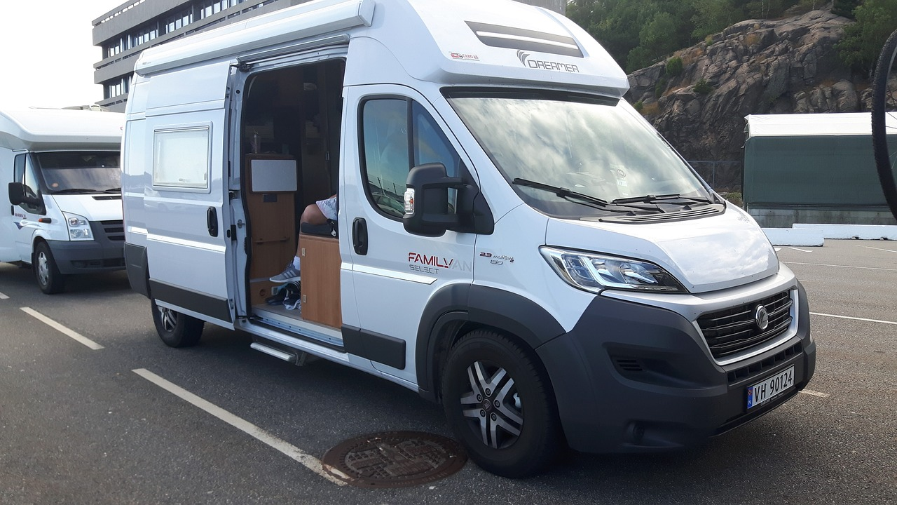 A converted transit van for an alternative to renting
