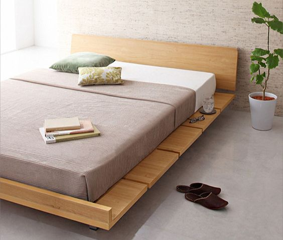 A Japanese bed frame