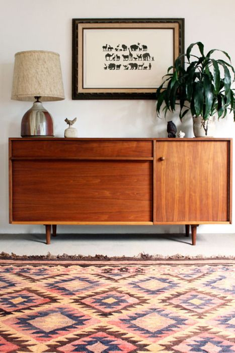 A mid-century sideboard