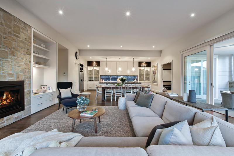 Stunning Glen Iris home with a beautiful, light living room.
