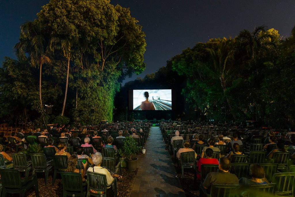 Deckchair cinema in Darwin, Australia