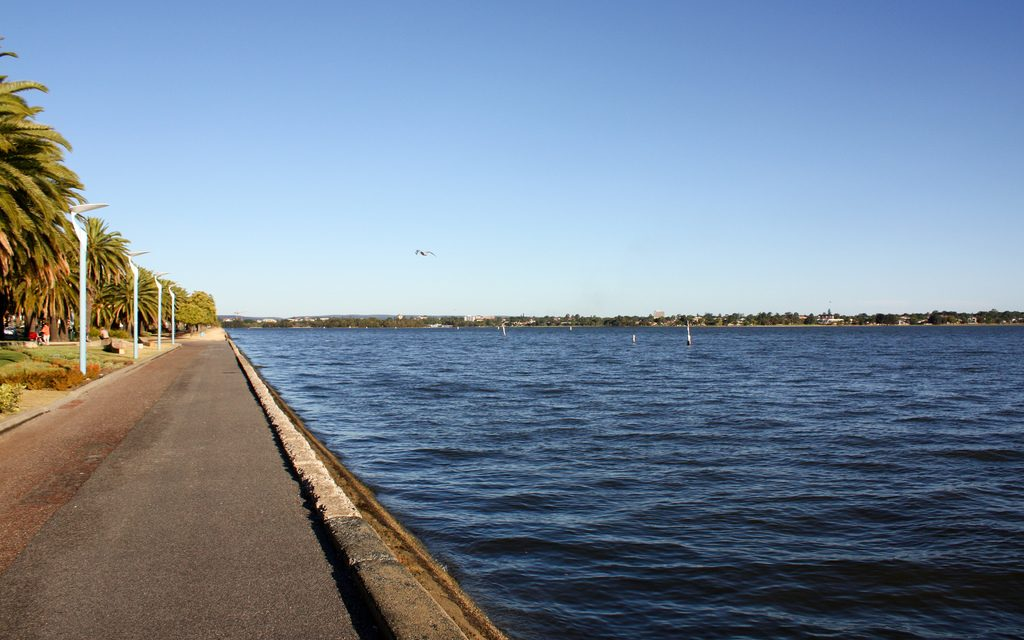 A view of the Swan River in Perth