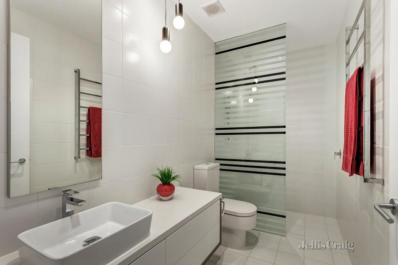 All-white bathroom