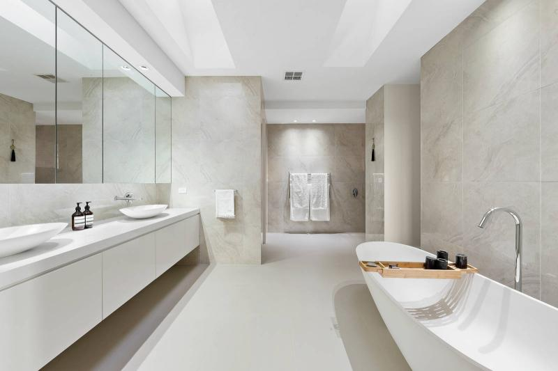 White on white bathroom in a Balwyn North home