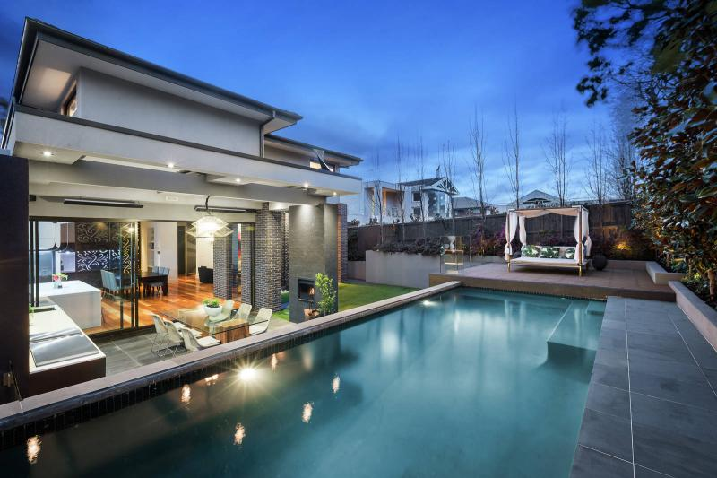Outdoor pool and Alfresco area in Balwyn North