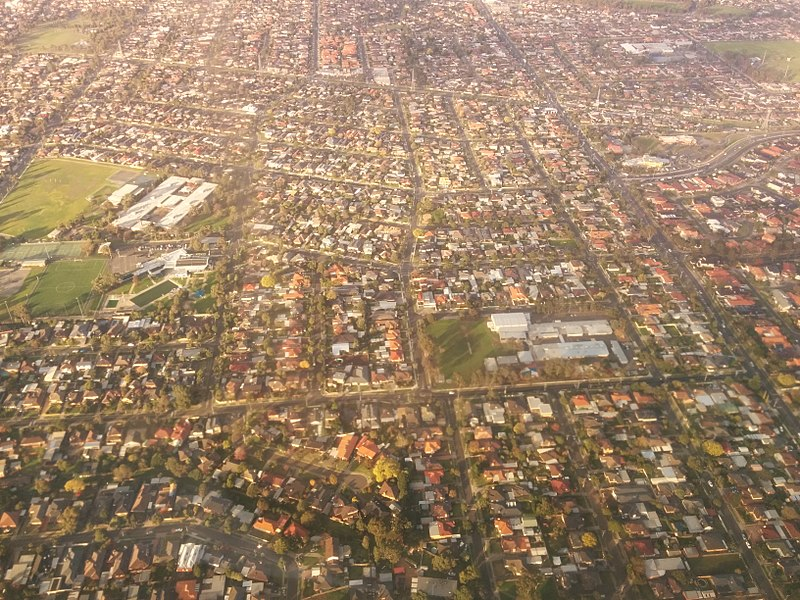 An aerial photo of Keilor East in Victoria.