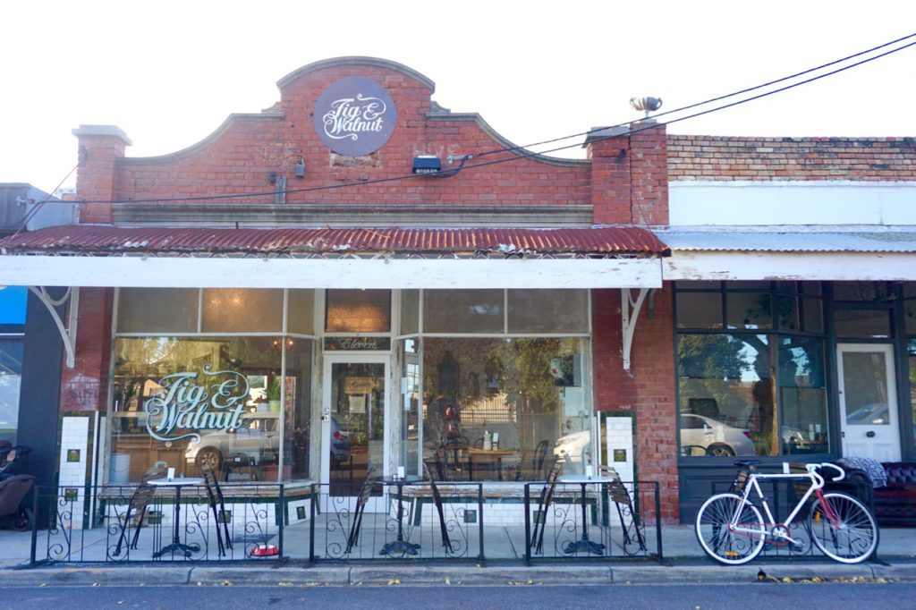 The Fig and Walnut cafe streetfront in Seddon, Melbourne's West