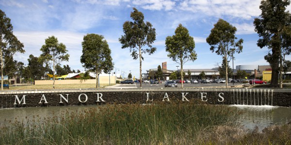 The Manor Lakes suburb entrance