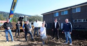 Works starts on a new house being built at Wongawilli to raise funds for Convoy