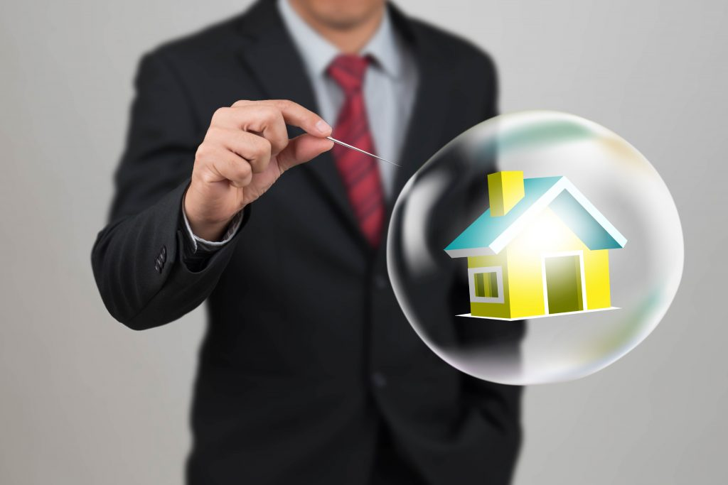 Man is about to burst the 'property bubble' with a pin