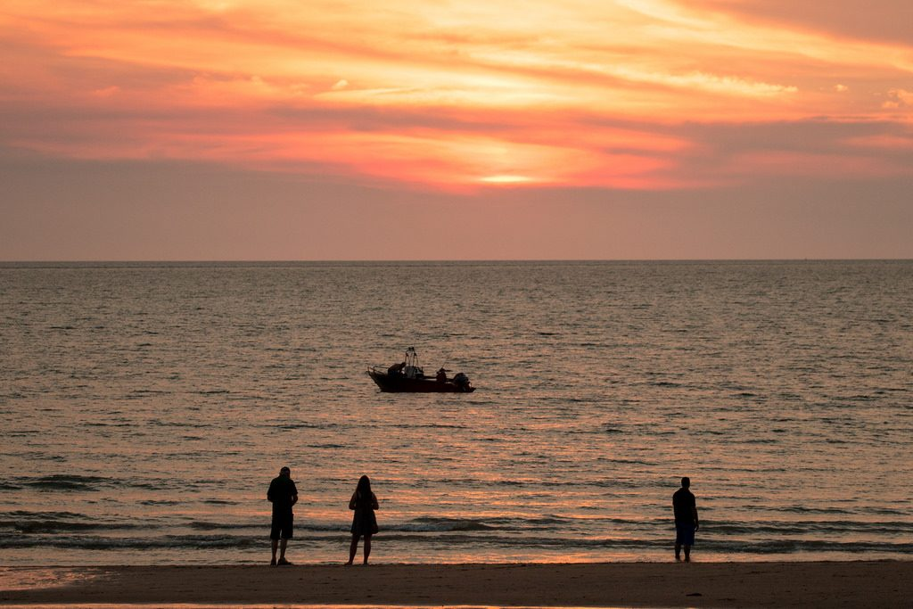 Mindil Beach in Darwin, Australia at sunset