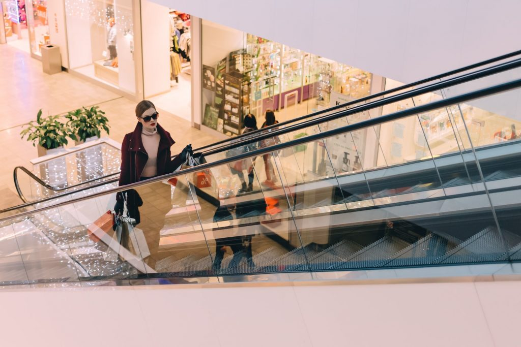 A mystery shopper checks out the shopping centre in sunglasses