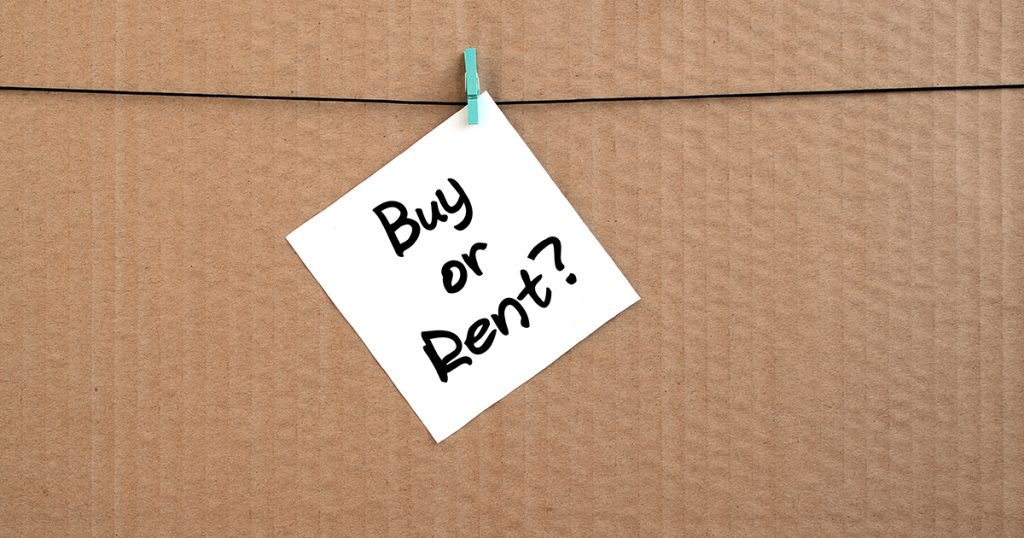 A buy or rent post it on a box