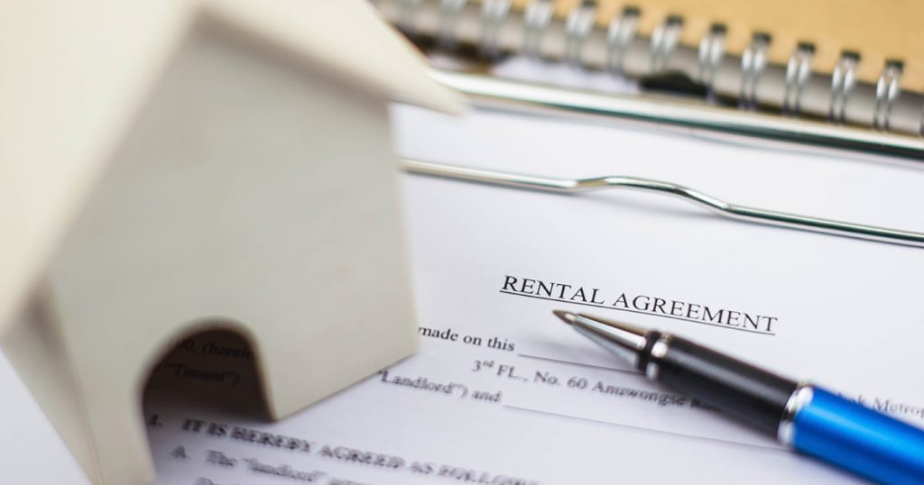 A rental agreement to be signed