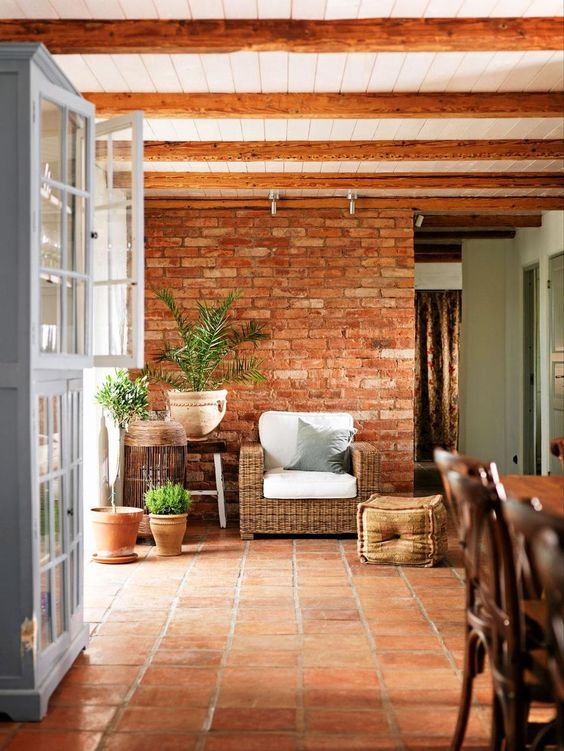 Terracotta tiles in an outdoor alfresco