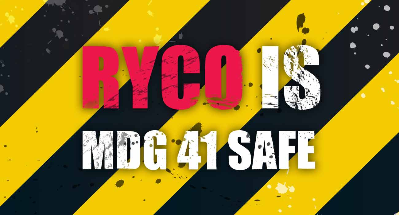 RYCO is MDG41 Safe