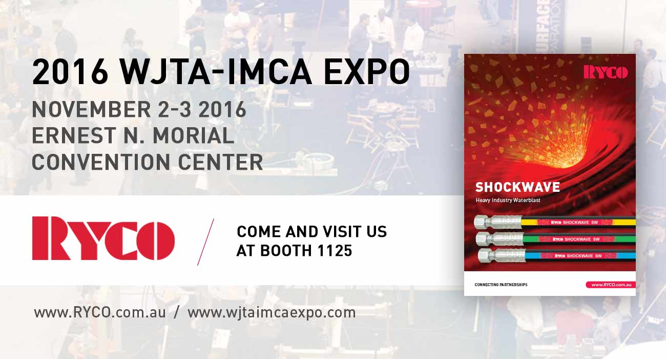 RYCO to showcase latest innovations at the WJTA-IMCA Expo, New Orleans, LA November 2-3 2016
