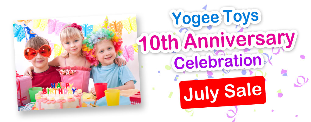 Yogee Toys 10th Anniversary Celebration July Sale image