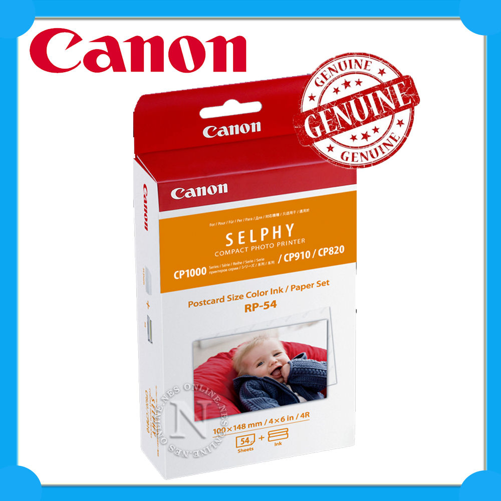 Canon Genuine RP-54 Ink+Postcard Size Paper Set>Selphy