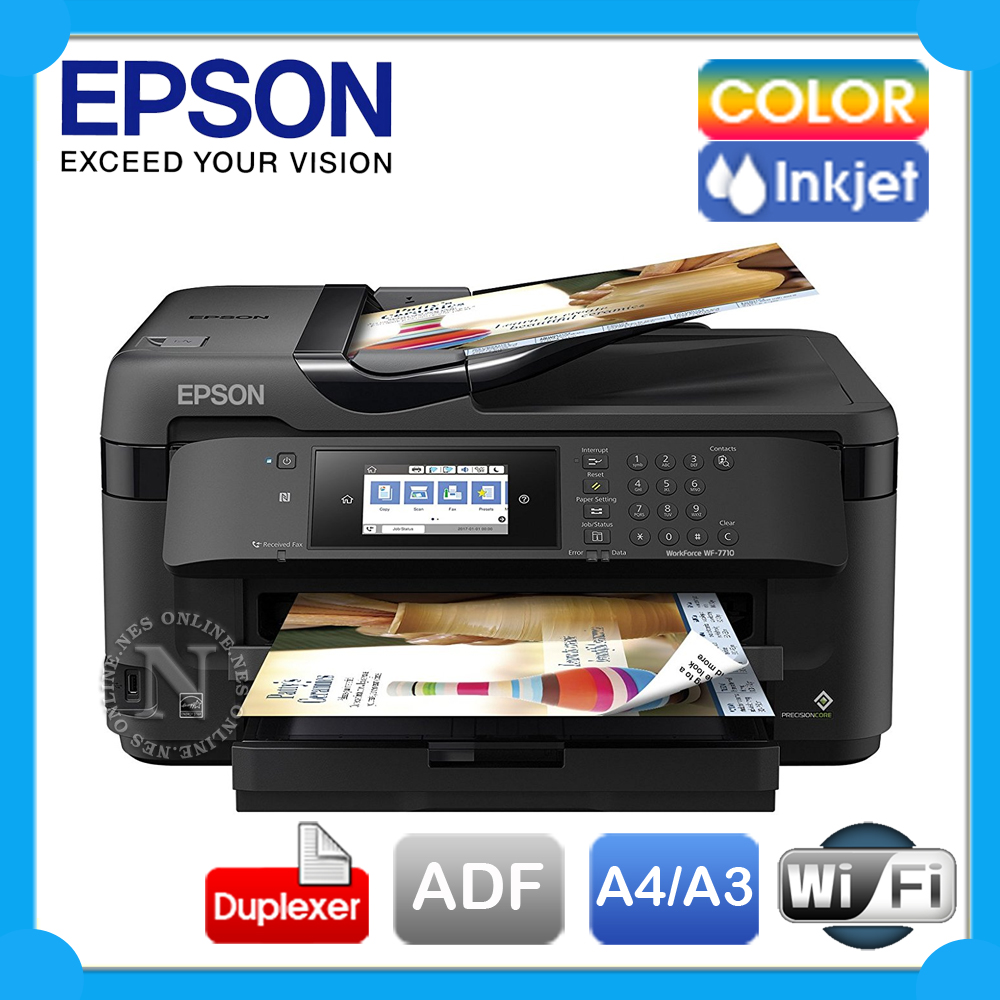 Epson Workforce WF-7710 4in1 A3 Wireless Inkjet Printer+
