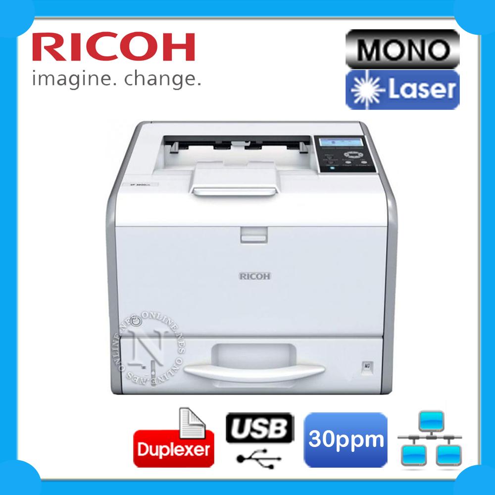 Ricoh SP-3600DN Mono Laser Network Printer 30PPM FREE ...