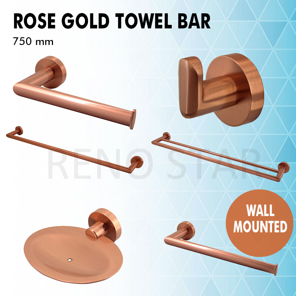 Image is loading brushed rose gold bathroom accessory wall mounted solid