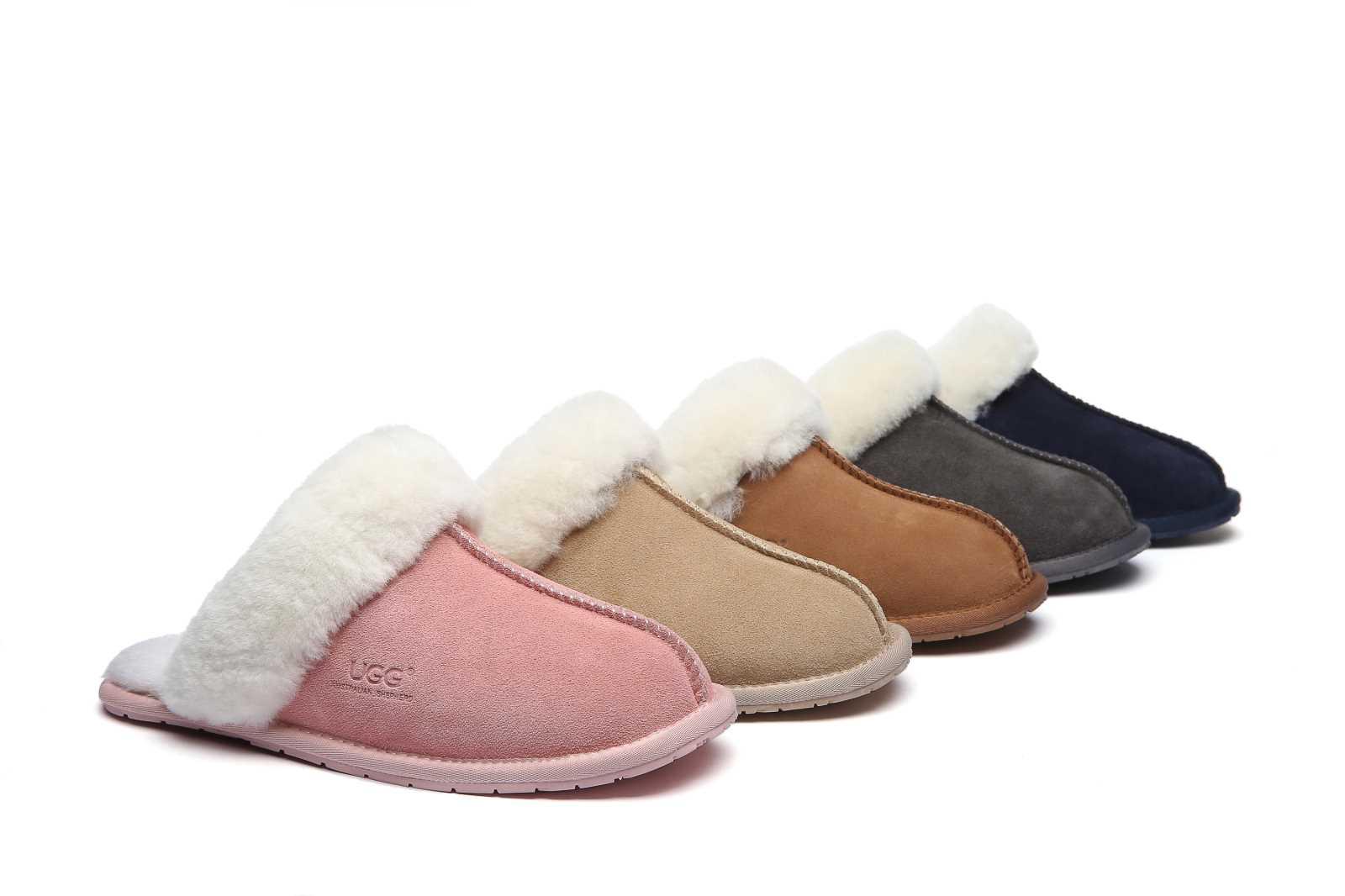 UGG-Rosa-Home-Slippers-Scuffs-Premium-Australian-Sheepskin-Lining-Insole