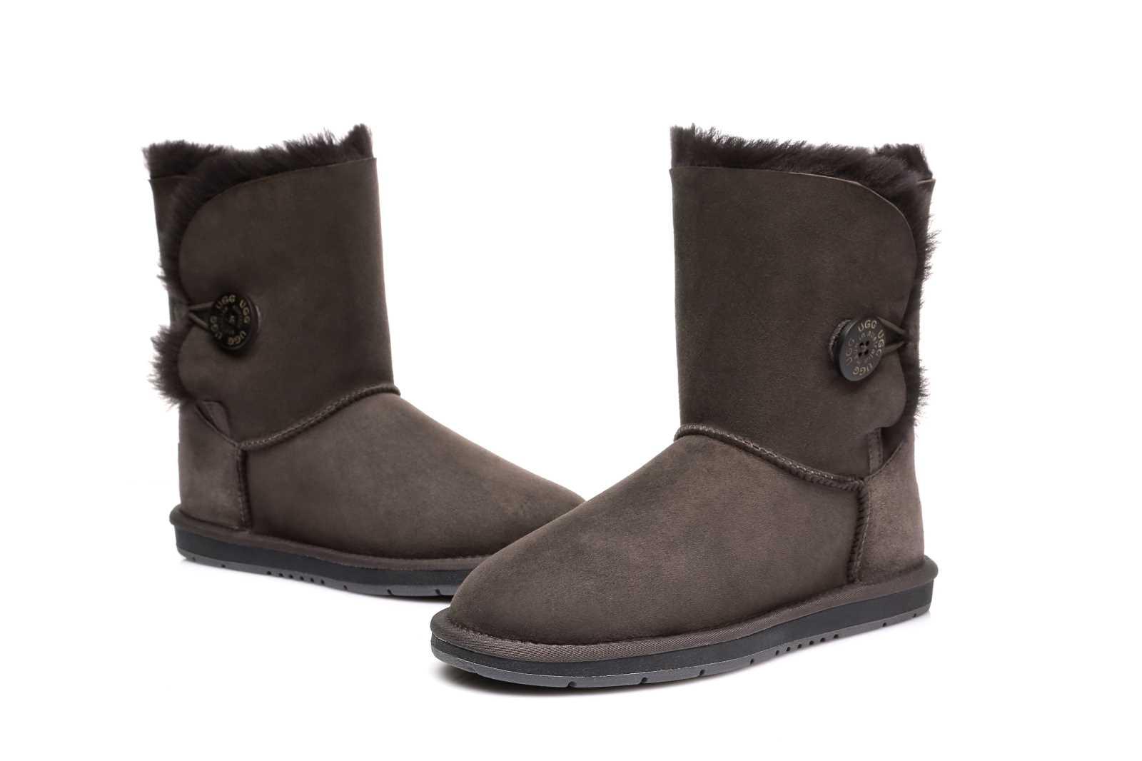 Sheepskin Button Boots Mid Classic EVA