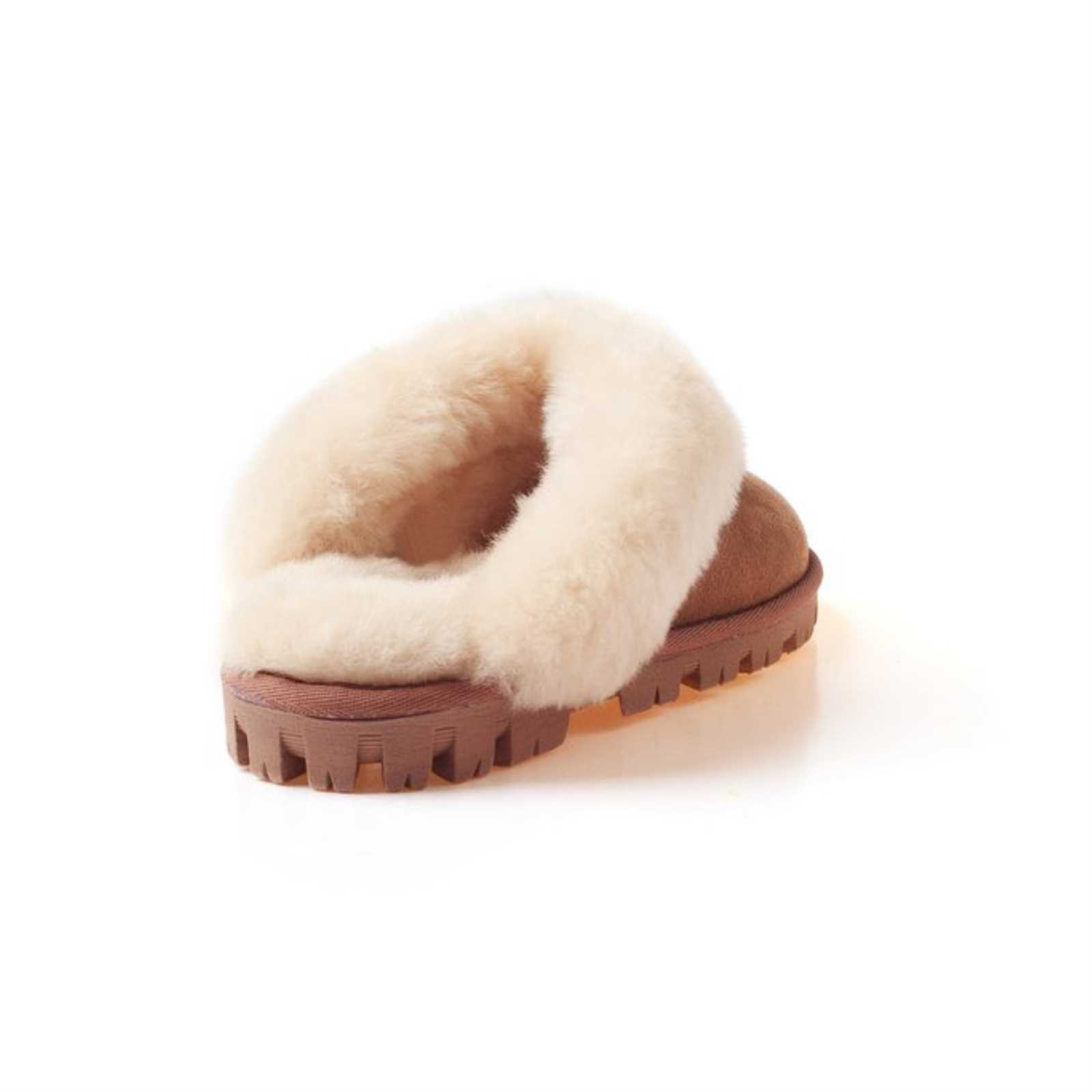 b3fbc4478b3 Details about UGG OZWEAR LADIES COQUETTE SLIP ON DOUBLE FACE SHEEPSKIN FUR  SCUFF SLIPPER OB114