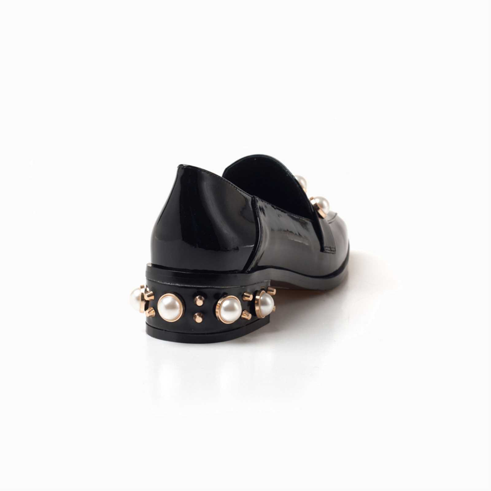 cf228f7c544 Details about UGG OZWEAR LADIES NITA PEARL SLIPPER FLATS BLACK GENUINE  LEATHER SHOES OB315