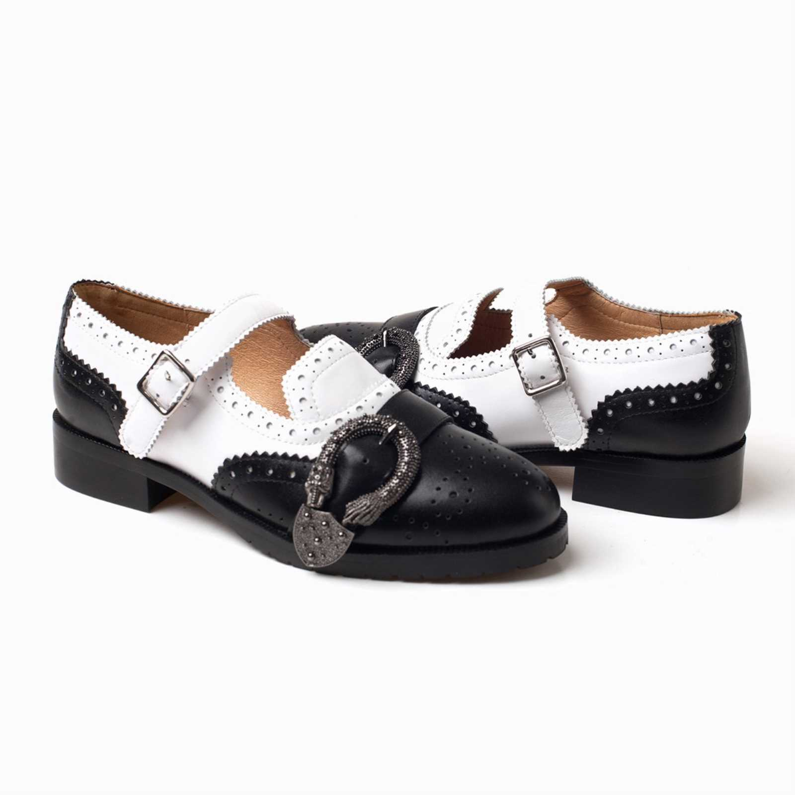Details about UGG OZWEAR LADIES MILA BROGUE MONK CLASSIC SHOES BROGUE TWO TONE STYLE OB329