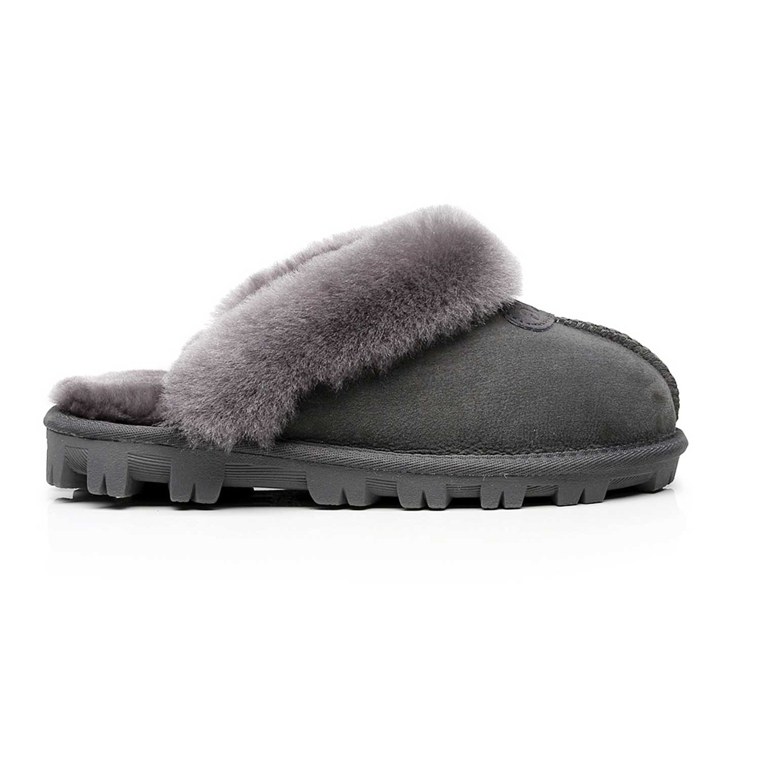 SW1200-Mubo-UGG-Women-039-s-HomeScuff-Slippers-in-Gray-Colour