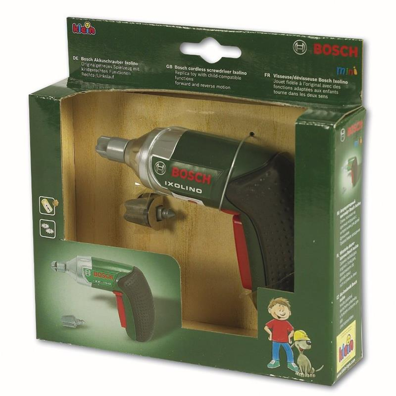 Bosch Ixolino Cordless Screwdriver Kids Pretend Play Mini Replica Toy