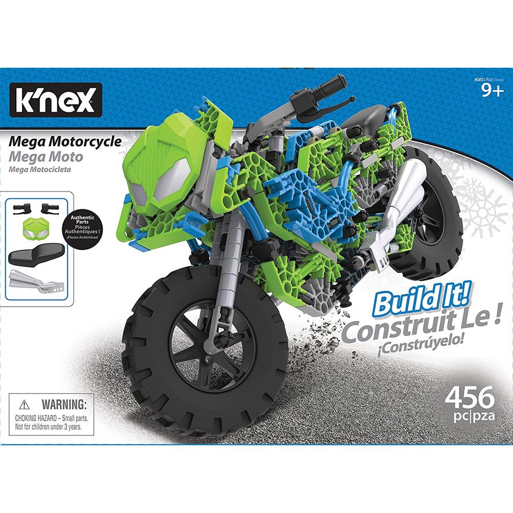 K/'Nex Starter Vehicle Building Set 61 Pcs Construction Toy for Kids Motorcycle