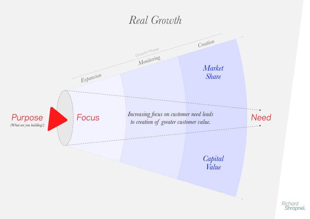 Richard Shrapnel's 'Real Growth' chart