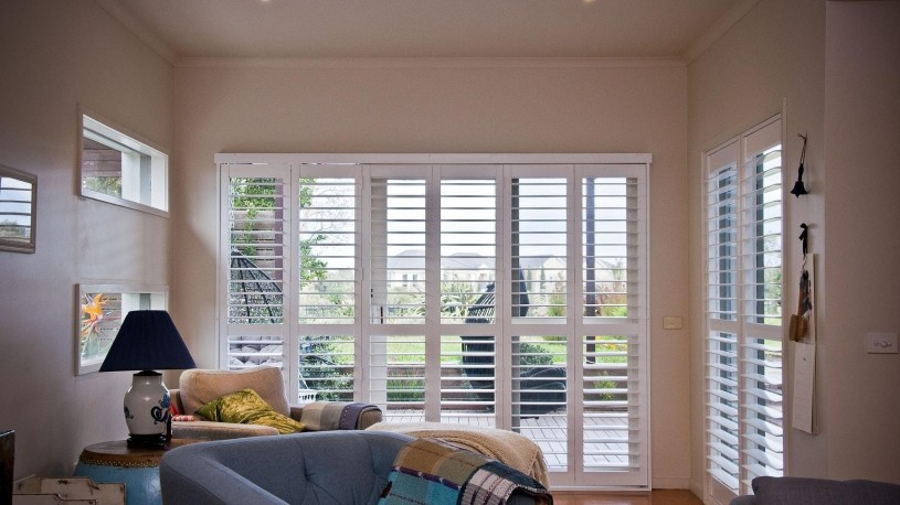 Plantation Shutters installed in Living Area Opened for Excellent View 2