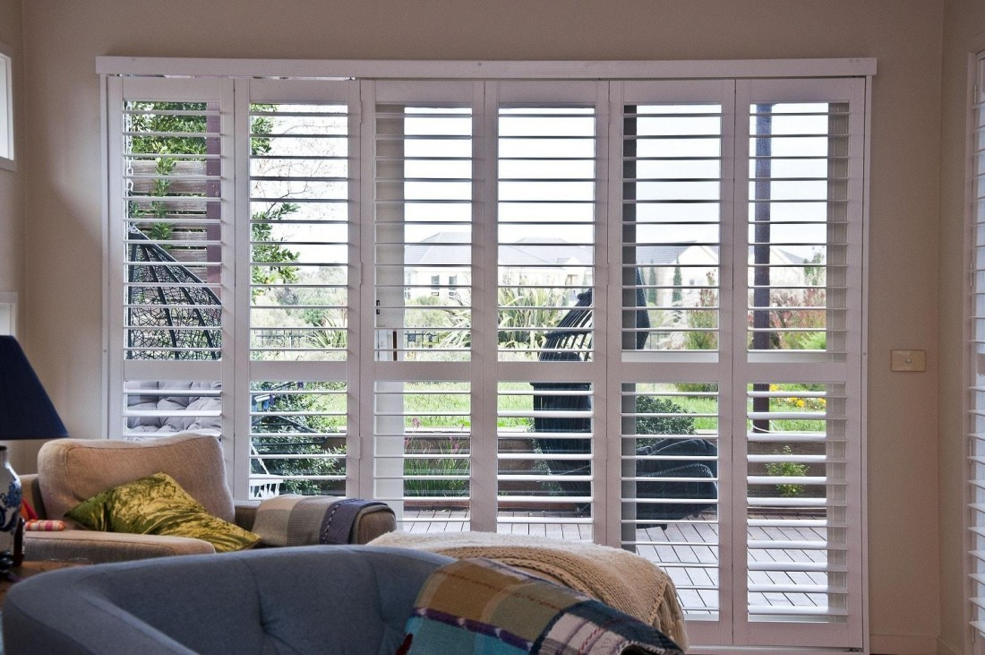 Plantation Shutters installed in Living Area Opened for Excellent View