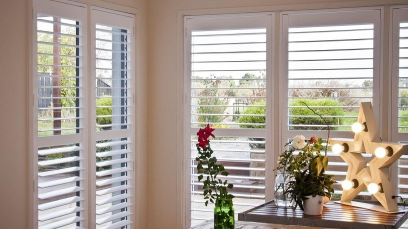 Plantation Shutters installed in Dining Area Opened for Excellent View