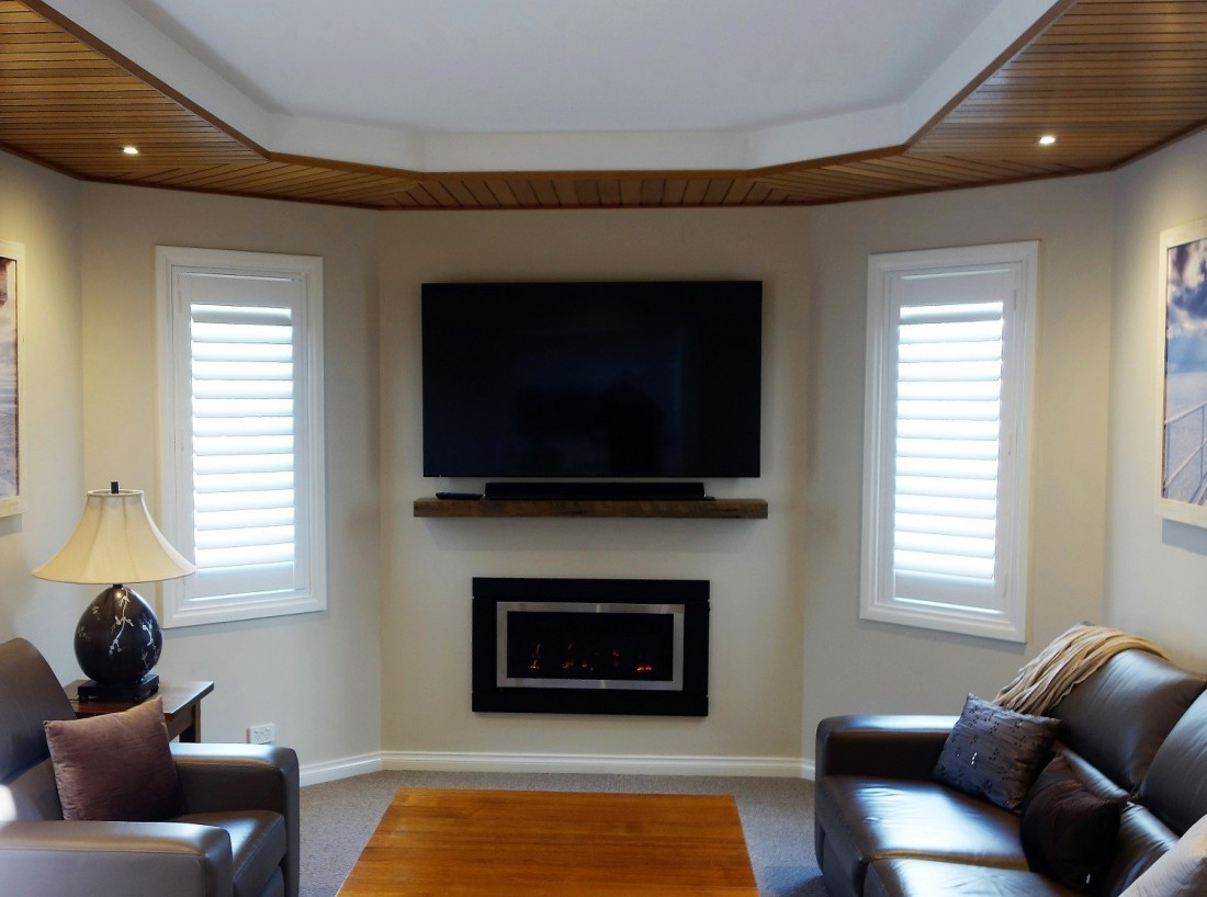 Plantation Shutters installed as a Feature in the Living Room