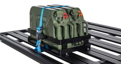 Rhino 43152 Double Horizontal Jerry Can Holder Roof Rack