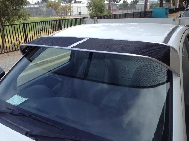 Mesh Windscreen Sunvisor Toyota Hilux 04 05-09 15 - Roof Rack World ba9ae4c7623