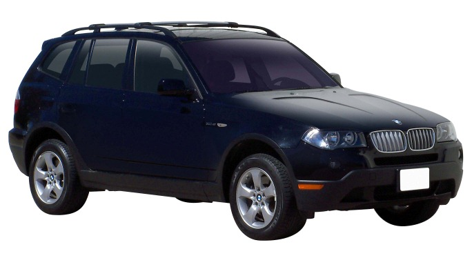 Bmw X3 4dr 4wd With Roof Rails E83 07 04 To 02 11 Whispbar