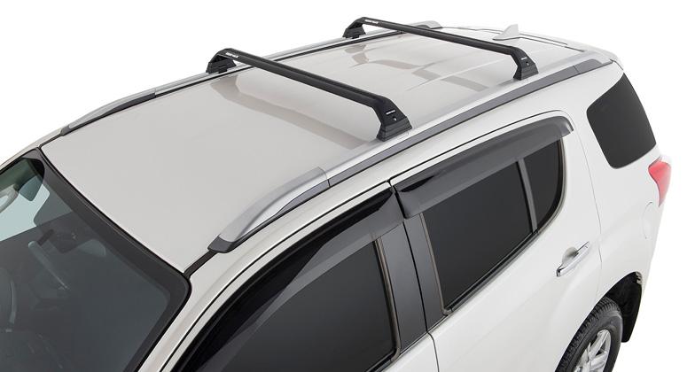 Isuzu MU-X LS-T 4dr SUV with Roof Rails 12/13on Rhino-Rack Vortex Roof  Racks (pr)