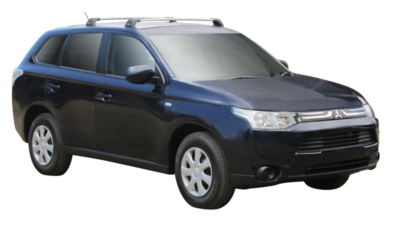 Mitsubishi Outlander 4dr Wagon ZJ 11/12on Whispbar Roof Racks (pr)