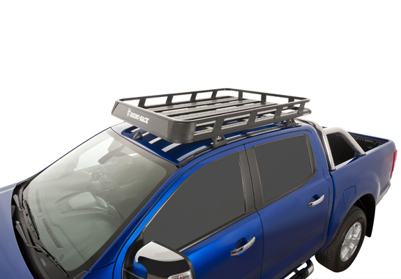 Ford Ranger 4dr Ute Double Cab PX/ Mazda BT50 10/11on Rhino Pioneer Tray   Roof  Rack World