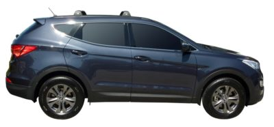 Hyundai Santa Fe 5dr SUV With Roof Rails 09/12on Whispbar Roof Racks (pr)
