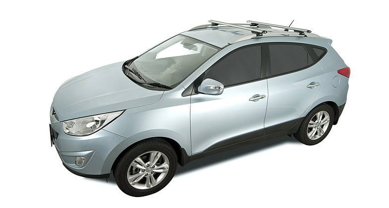 Hyundai Ix35 4dr Suv With Roof Rails 02 10on Rhino Rack