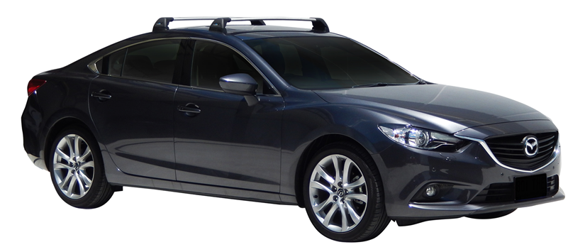 Mazda 6 4dr Sedan GJ 12/12on Whispbar Roof Racks (pr)   Roof Rack World